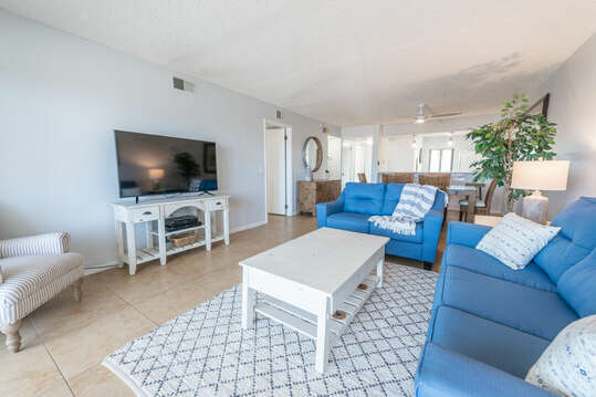 The condo is the largest 2 bedroom weekly rental condo in the area