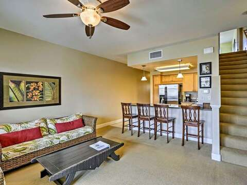 Open Concept Living Area in our Ko Olina Hillside Villa