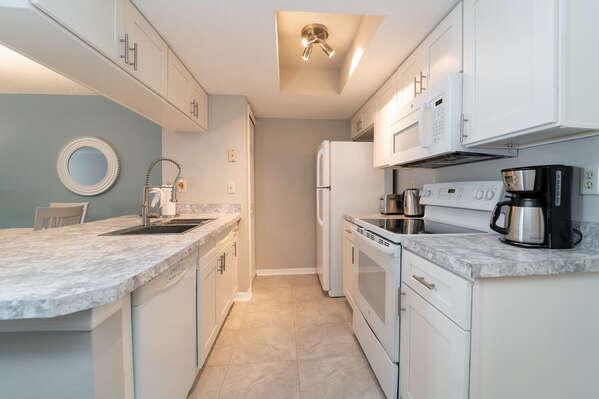 Recently remodeled full kitchen