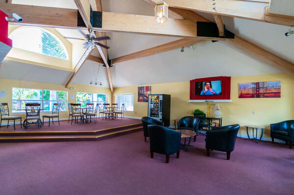 common area inside the clubhouse