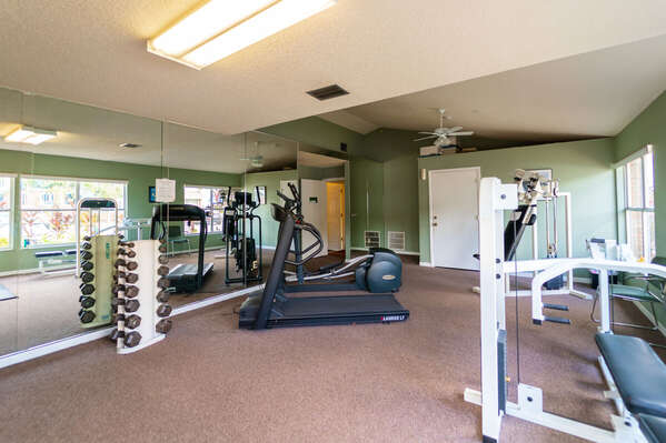 fitness room located in the clubhouse