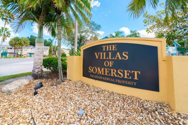 Entry sign for Villas of Somerset