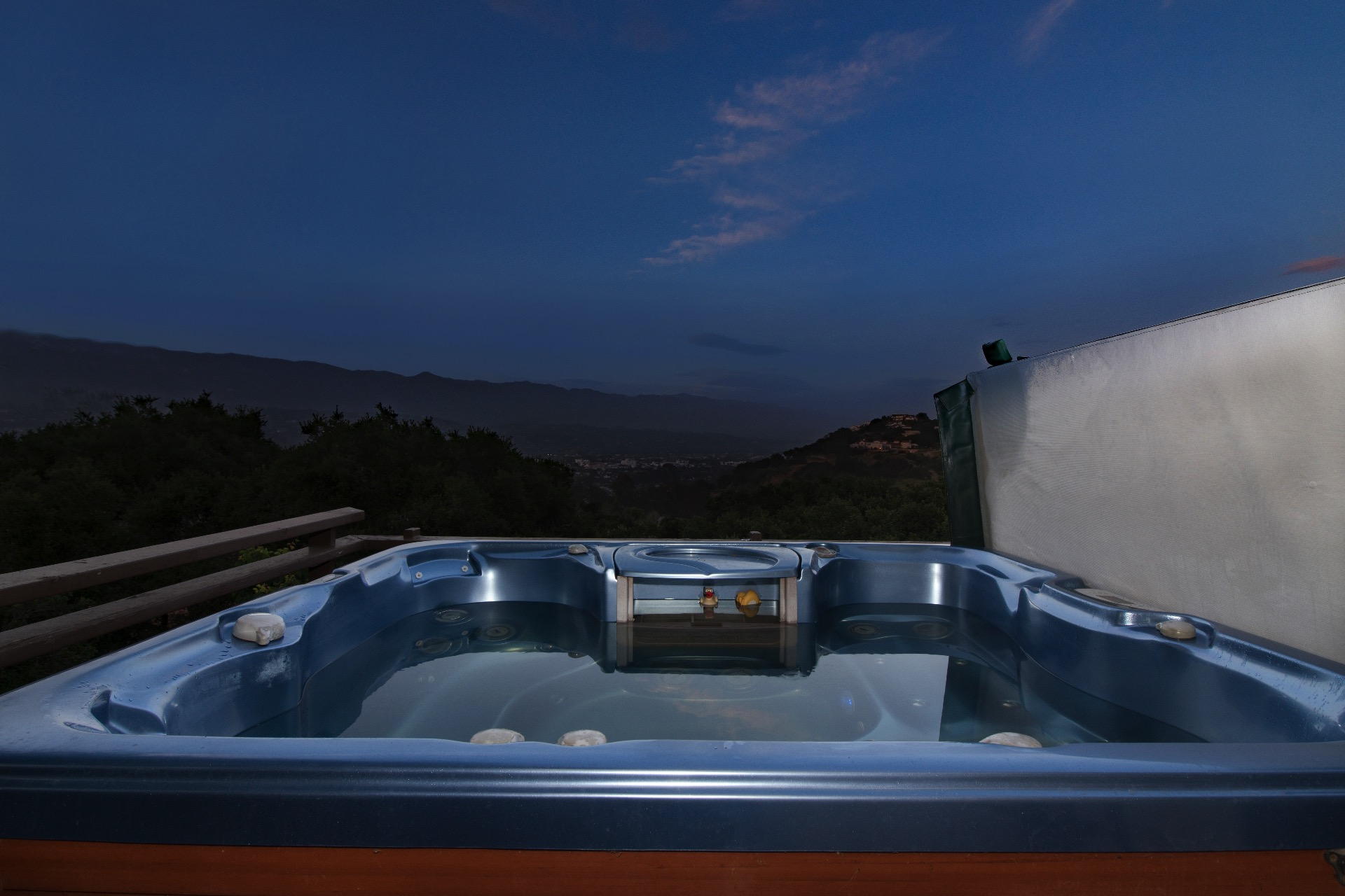 Hot tub located off the master bedroom