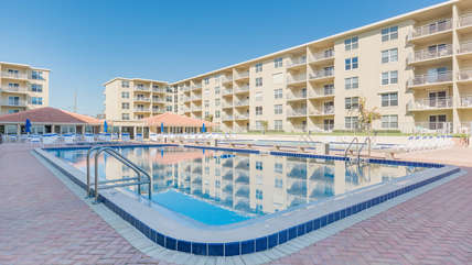 Jump into one of our (2) community pools.  One Seasonally heated or the other refreshingly cool after a long jog on the beach.