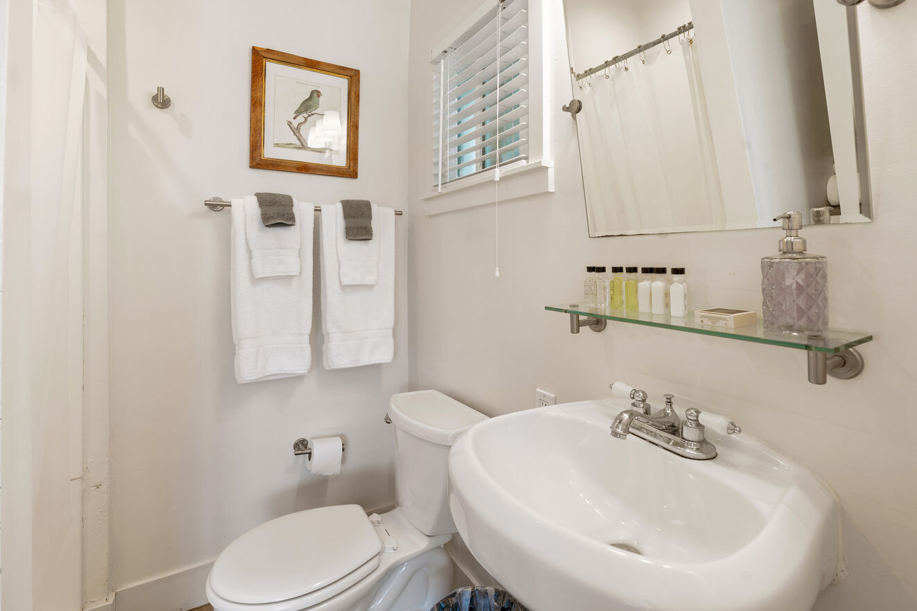 Full bath with stand alone shower