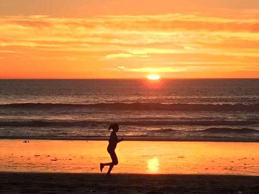 Beautiful Sunset on Mission Beach.
