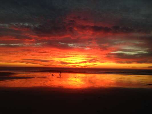 Sunset on Mission Beach.