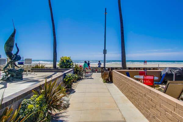 Boardwalk in the Beach.