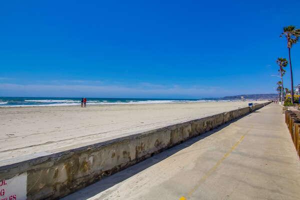 Mission Beach Boardwalk.