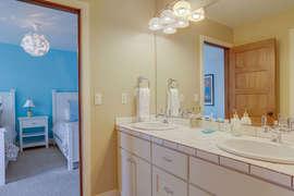 Jack and Jill bath between twin bedrooms