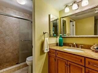 Bathroom with Vanity and Walk-in Shower