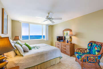 Main Bedroom with Tropical Decor and Ocean Views