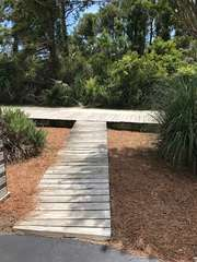 Take the boardwalk from the driveway right onto Boardwalk 1!