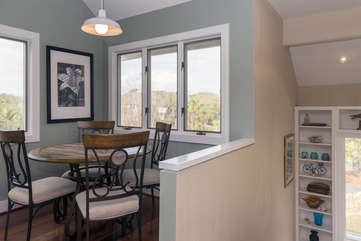 The breakfast nook with seating for 4.