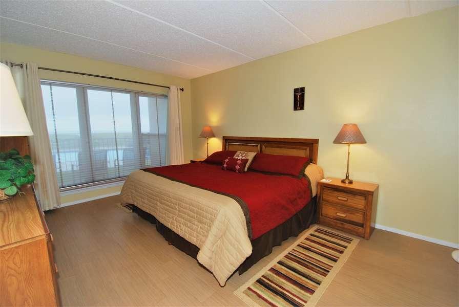 Master bedroom; King size bed