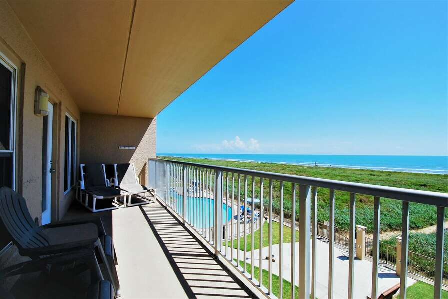 Unit Balcony looking out to the Gulf of Mexico