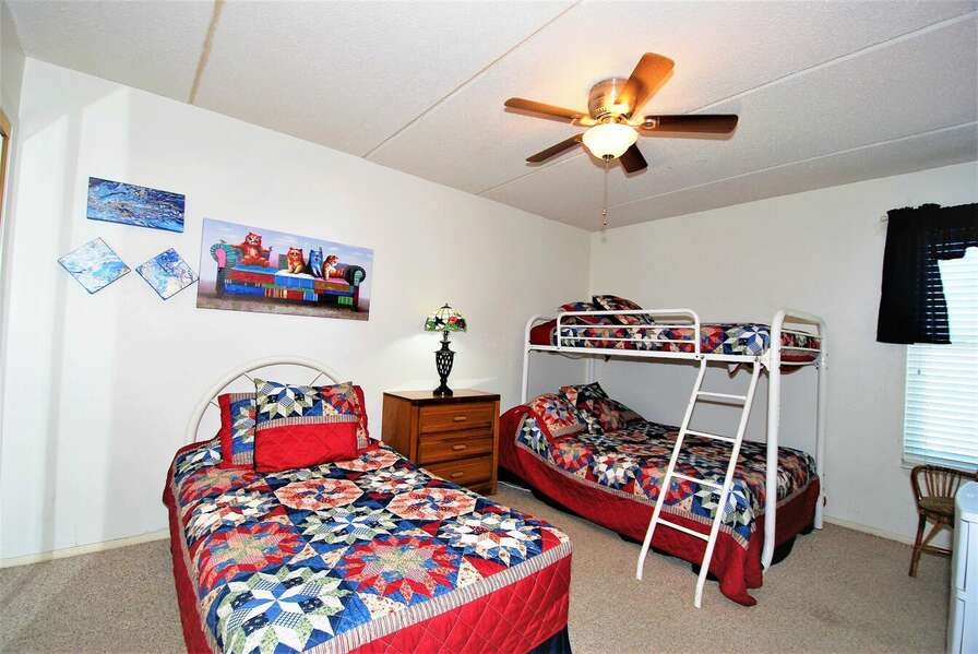 Third Bedroom- Twin over Full Bunk Bed, and a single Full size bed