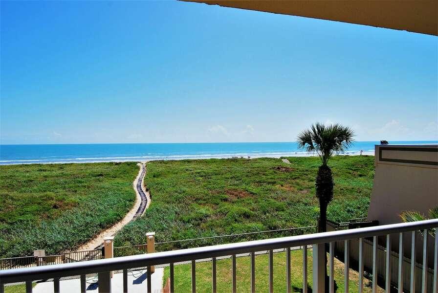 Beachfront balcony