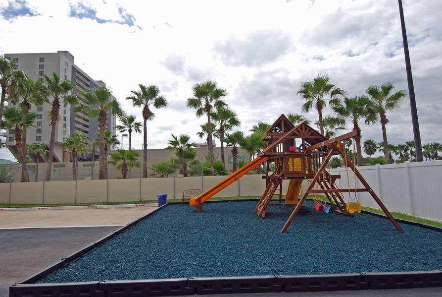 Playground includes Swings, Slide, Climbing wall