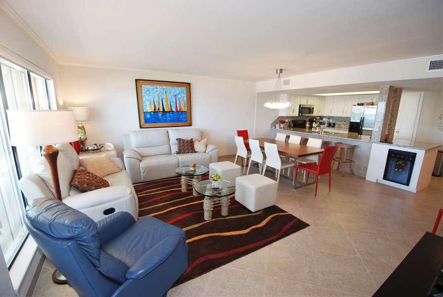 Open Living Room with Ocean View