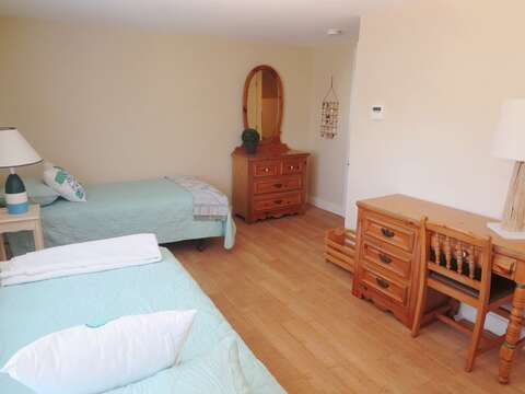 Bedroom #3 2 Twin beds with dresser and desk. 80 Landing Lane Chatham Cape Cod - New England Vacation Rentals