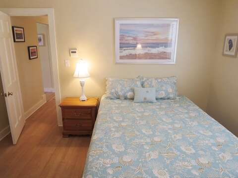 Bedroom #2 Queen Bed with night stand. 80 Landing Lane Chatham Cape Cod - New England Vacation Rentals