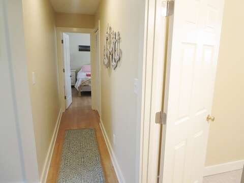 Hallway to bedrooms. 80 Landing Lane Chatham Cape Cod - New England Vacation Rentals