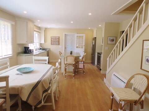 Open concept Dining room and Kitchen.80 Landing Lane Chatham Cape Cod - New England Vacation Rentals