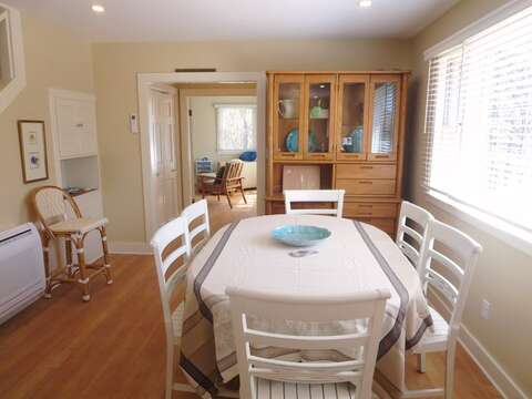 Dining area with seating for 6. 80 Landing Lane Chatham Cape Cod - New England Vacation Rentals