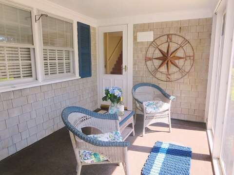 Screened in Porch with seating for 2 80 Landing Lane Chatham Cape Cod - New England Vacation Rentals