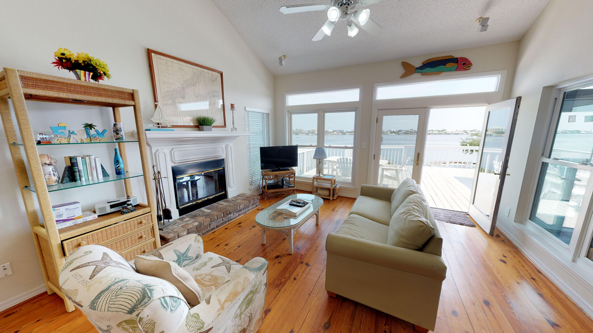 Enjoy the water views from the living area and kitchen!