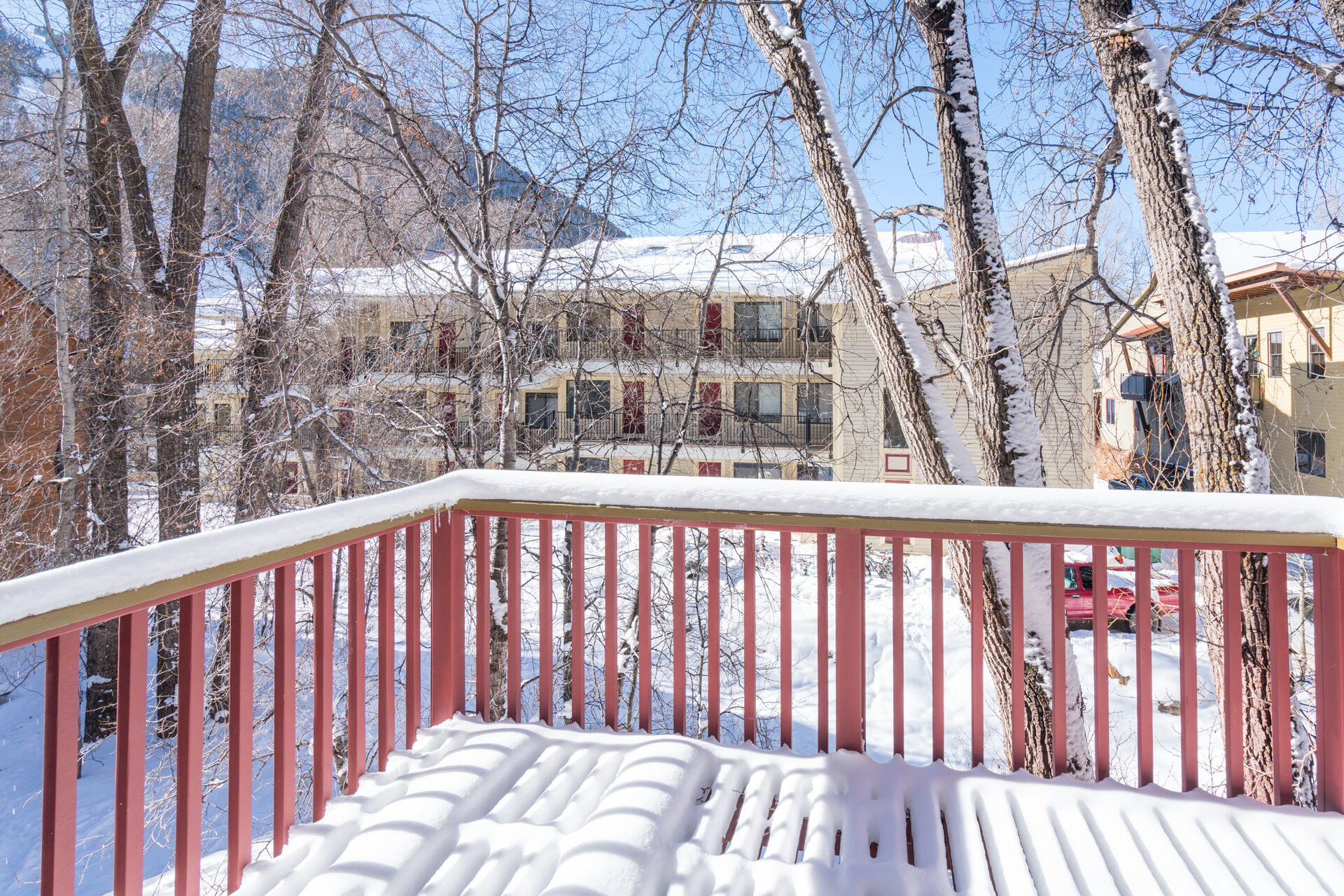 View from the Deck of our Telluride Condo Rental