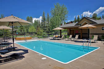 This development has a beautiful pool and hot tub facility