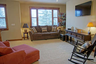 Upper Living Room with HDTV & sleeper sofa