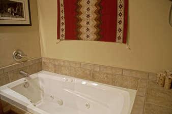 Master Bathroom has a nice Jacuzzi Tub