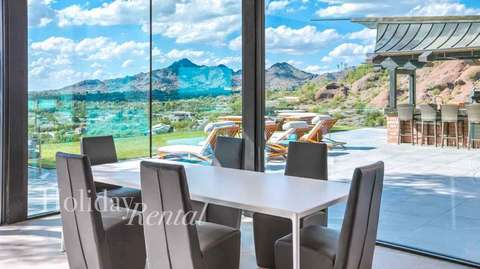Dining room with incredible views.