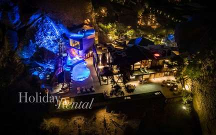Arial View of the back of the villa