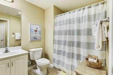 Full Bathroom adjacent to Entryway