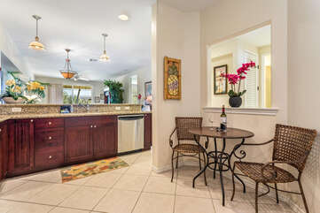 Breakfast Nook with Seating for Two in the Kitchen