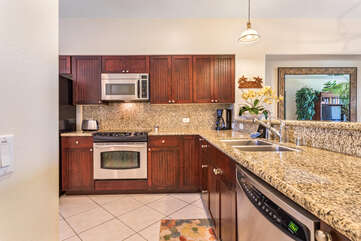 Fully Equipped Kitchen with Stainless Appliances and Plenty of Counter Space