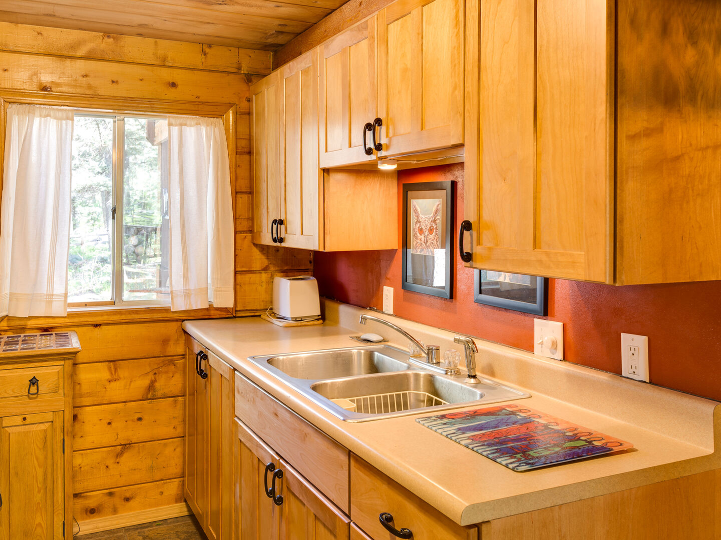 Kitchen stocked to make a great meal