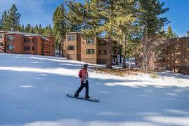 Back of Condo with ski run