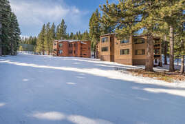 Back of condo from the ski slopes at Northstar