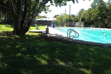 Take a dip at the neighborhood pool - Big Stacy. It's spring fed, open year round and free! 0.7 mile from property.