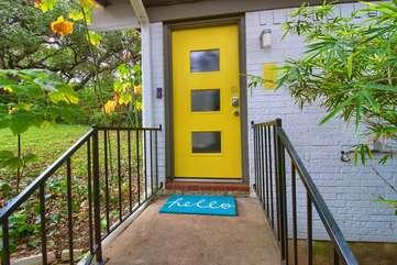 Welcome to the yellow door!