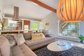 Welcome to the Orange Door: A Light, Bright, Mid-Century Gem near SoCo & Downtown