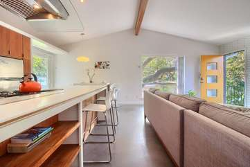 Enjoy the bright and open floor plan with vaulted ceilings.