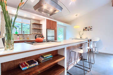 The large kitchen island - perfect for meals, games, or laptop time.
