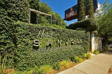 Hotel San Jose on South Congress. Enjoy a drink in their beautiful courtyard.