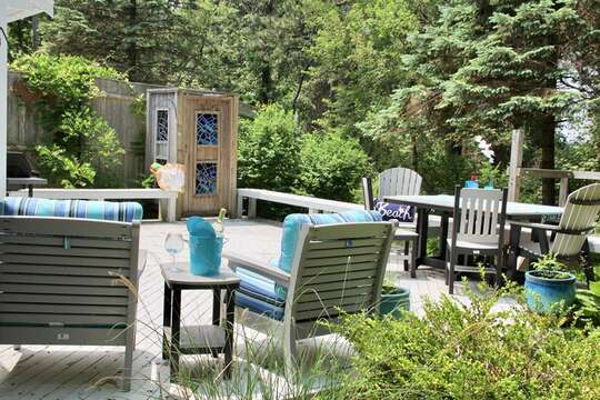 Cozy deck to relax on - 425 Paines Creek Brewster Cape Cod - New England Vacation Rentals